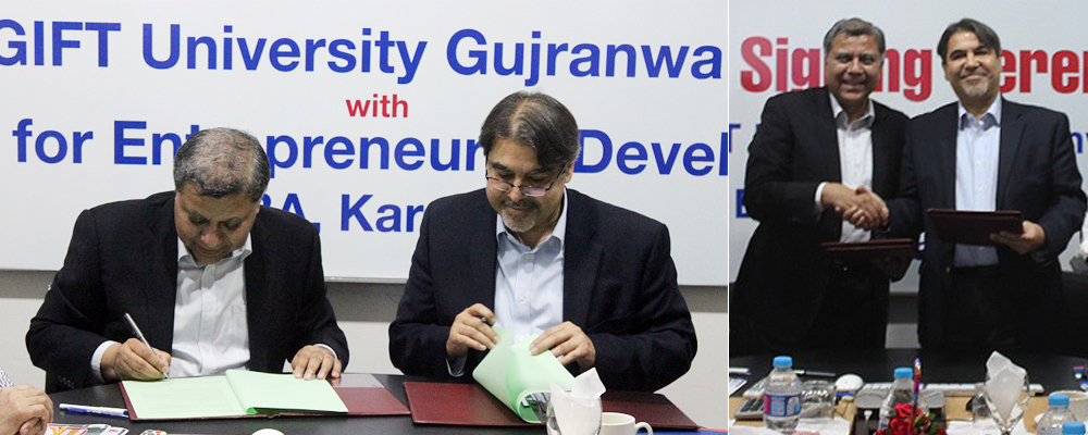 IBA NEP MOU signing ceremony at GIFT University, Gujranwala